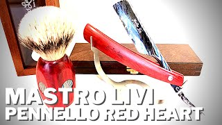 Il Pennello in legno Red Heart con inserti di damasco CarboInox di Mastro Livi
