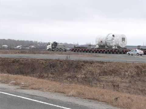 Перевозка газовой турбины 310 тонн АСЭ