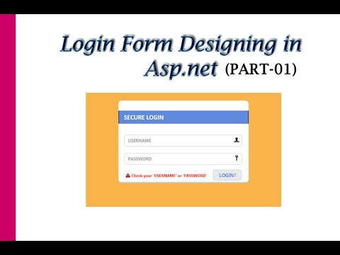 Login form designing in part 01 youtube for Login page in asp net template
