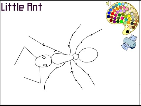 Ant Coloring Pages For Kids Ant Coloring Pages YouTube