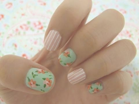 Vintage floral nail tutorial youtube vintage floral nail tutorial prinsesfo Image collections