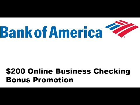 Bank Of America Business Checking Account Review 200 Bonus Youtube