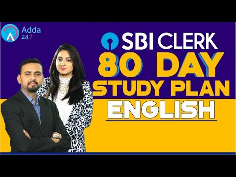SBI CLERK PRE | 80 Day Study Plan (English) By Anchal Mam & Saurabh Sir