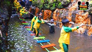 Nyebur Main Air Basah Basahan Menelusuri Sungai | Outbound Anak Indonesia
