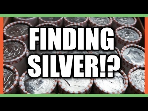 COIN ROLL HUNTING FOR SILVER HALF DOLLARS WORTH MONEY!!