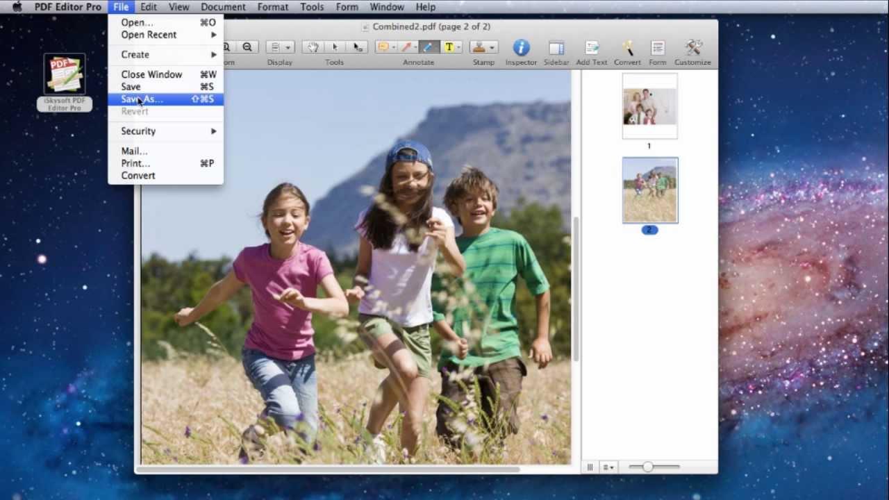 how to undo a pdf on a mac