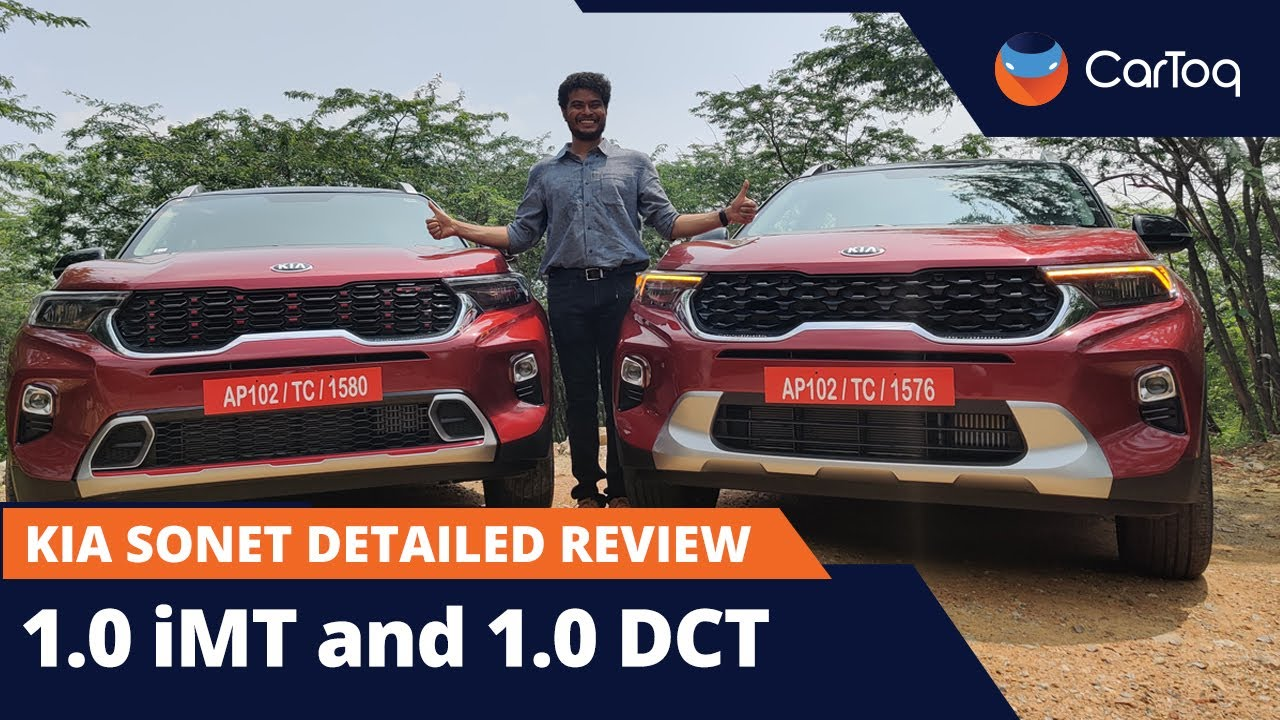 Kia Sonet Suv Detailed First Drive Review 1 0 Turbo Petrol Imt Dct Youtube