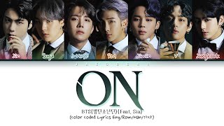 BTS (방탄소년단) - ON (Color Coded Lyrics Eng/Rom/Han/가사)