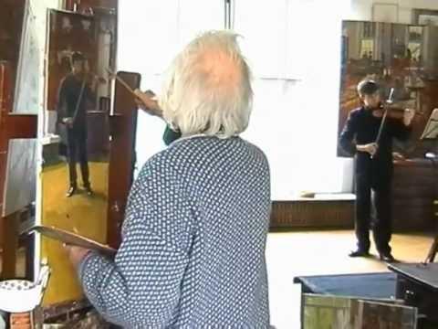 Ken Howard paints Alan Parmenter