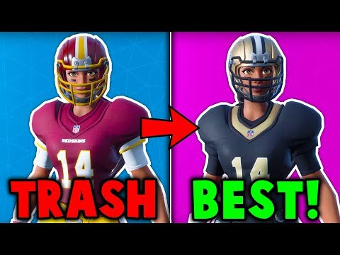 RANKING ALL 'FOOTBALL' SKINS FROM WORST TO BEST! (New NFL Skin Update)