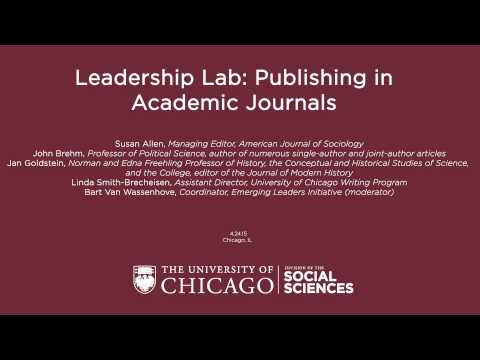 Leadership Lab: Publishing in Academic Journals