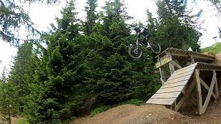 Downhill Mountain Biking in Alps 2013  Les Gets, Morzine, Chatel.