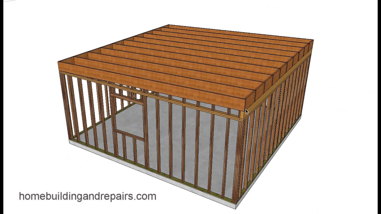 Illustrated Example Of Easy Shed And Garage Framing With