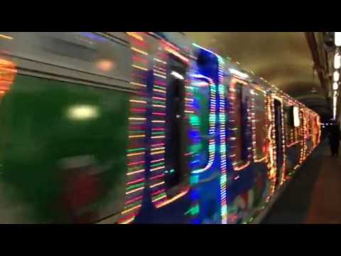 "Chicago Transit Authority (CTA) Santa ""L"" Train Washington Blue Line"