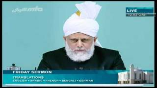 (Urdu) Friday Sermon 01/10/2010 Part 4/4