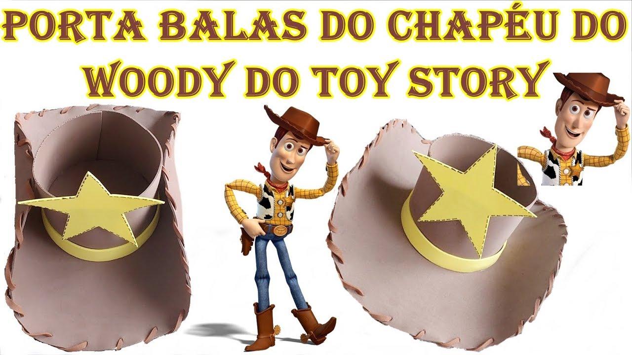 98d0704c1715c DIY - Como fazer Porta Balas do chapéu do Andy do Toy Story - YouTube