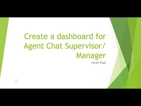 Create dashboard or reports as Agent Chat supervisor / manager in ServiceNow