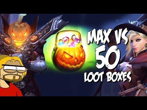 MAX VS 50 LOOT BOXES - Overwatch Halloween