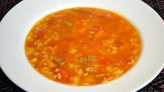 Chorba Lsan Tair - Orzo Meat Soup Recipe - Cookingwithalia - Episode 185