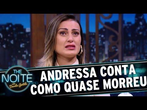 Andressa Urach chora ao descrever como ficou entre a vida e a morte | The Noite (05/04/17)