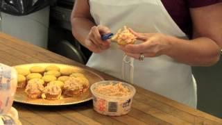 Pimento Cheese Topped Cornbread Muffins