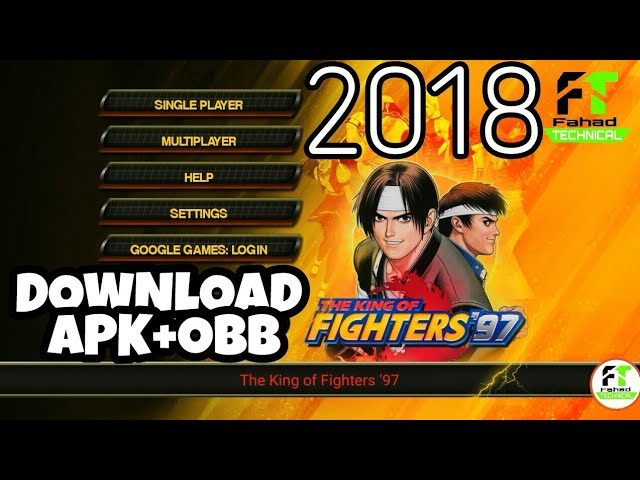 How To Download King Of Fighter 97 Game Apk Obb 2018 Youtube