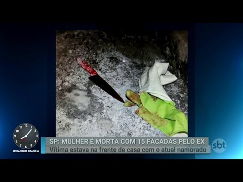 Mulher é morta a facadas pelo ex-marido no interior de São Paulo | Primeiro Impacto (26/03/18)