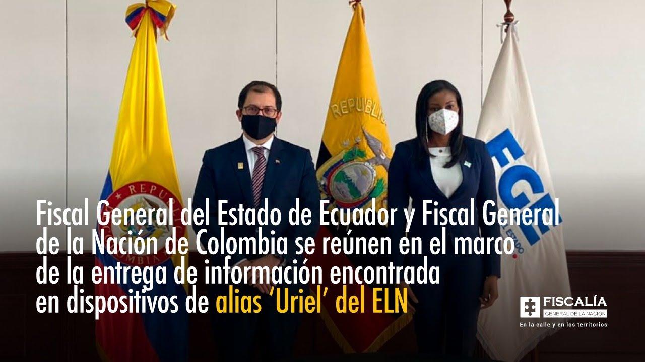 Fiscal General tramitó información de 'Uriel' en Ecuador