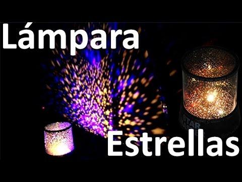 Lampara infantil con estrellas proyector de estrellas - Lampara de noche para bebes ...