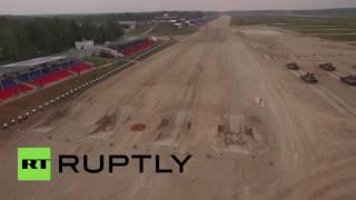 Беспилотник заснял танковый биатлон на Армейских играх в Алабине