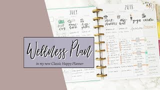 Wellness Planning in a Happy Planner   Tracking Workouts, Meals, and Self-Care