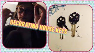 nail polish & vlog number i lost count: decorating house keys