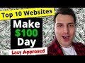 Top 10 Websites to Make $100 a Day Online (Lazy Approved)