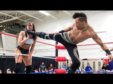 Kris Statlander vs. Christian Casanova - Limitless Wrestling (Intergender, Mixed)