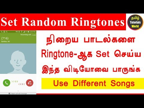 How to set different ringtones in Android Tamil Tutorials World HD
