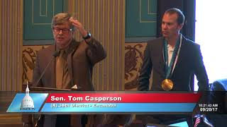 Sen. Casperson welcomes Olympian Billy Demong to the Michigan Senate