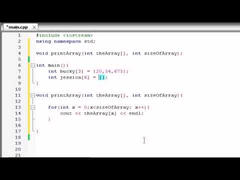 Download Youtube: Buckys C++ Programming Tutorials - 35 - Passing Arrays to Functions