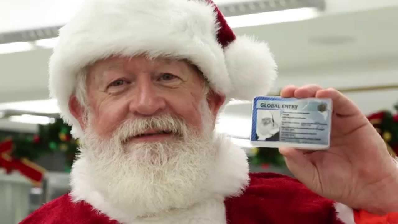 Santa Claus Enrolls in Global Entry