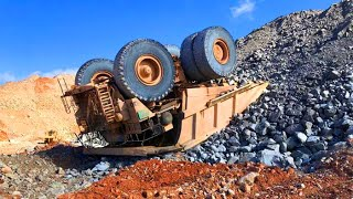 Extremely Dangerous Dump Truck Operator Wins and Fails - Biggest Heavy Equipment Machines Working !