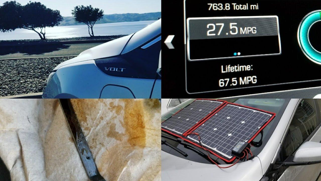 Chevy Volt Vlog 61 40 000 Miles 27 5 Mpg Oil 7 Solar Panels