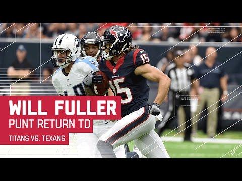 Will Fuller Blasts Off for Punt Return TD!   Titans vs. Texans   NFL