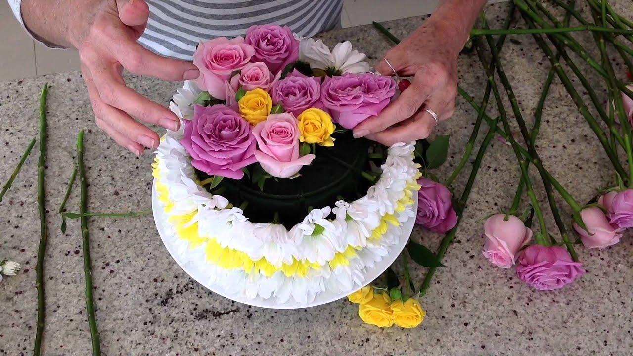Happy Birthday Cake Flowers Arrangements Gardening Flower And