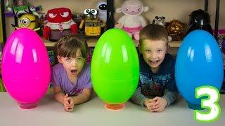 Jumbo Mystery Surprise Eggs Part 3 Mommy's Egg Avengers Shopkins Superman Batman Ninja Turtles