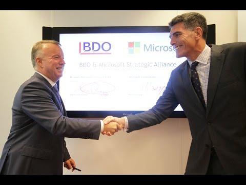 BDO announces worldwide strategic alliance with Microsoft