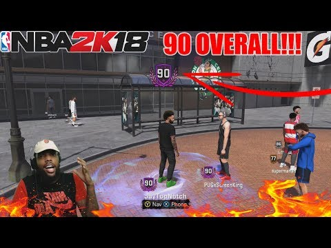 I HIT 90 OVERALL LIVE REACTION! 😈 *NOT CLICKBAIT*   NBA 2K18   THE PLAYGROUND