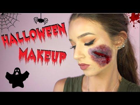 Simple Halloween Makeup Tutorial Using Liquid Latex Easy Simple Quick Youtube