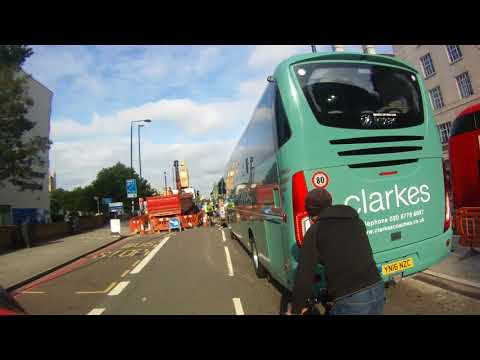 Cyclist's not helping themselves with a coach.