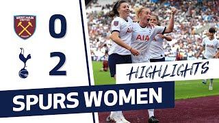 HIGHLIGHTS | WEST HAM 0-2 SPURS WOMEN | FAWSL