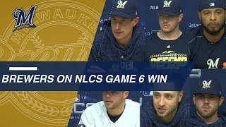 NLCS Gm6: Brewers on forcing a Game 7 vs. Dodgers