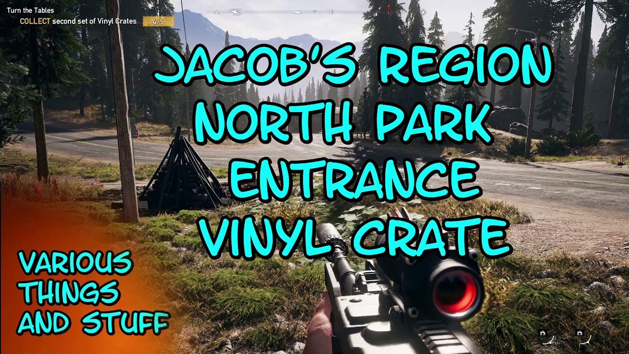 Far Cry 5 Jacob S Region North Park Entrance Vinyl Crate Youtube